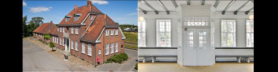 Stationsbygning Fyn - Nr. Aaby gamle stationsbygning med pakhus - fredet ejendom